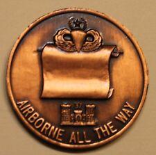 82nd Airborne 37th Engineering Combat ser#412 Copper Army Challenge Coin