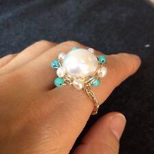 100% Baroque freshwater pearl 14K Gold Filled ring Original works Australia