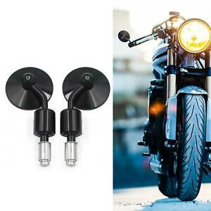 """CAFE RACER CLUBMAN BOBBER BUELL Black Motorcycle 7/8"""" Bar End Rear View Mirrors"""