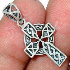 Celtic Cross 925 Sterling Silver Pendant Jewelry AP115374
