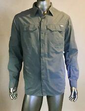 Men's Columbia Button Front Nylon Shirt, Size XL, Col Gray