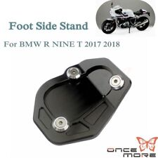 For BMW R Nine T 17-18 Kickstand Kick Stand Foot Side Stand Extension Pad Black