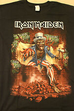 Iron Maiden 2016 L Book Of Souls Tour Shirt United Center, Chicago, April 6, 201