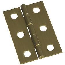 "25-Miniature Antique Brass 1 3/8"" W X 2"" H Chest Jewelry Box Hinge 2/Pk N211383"