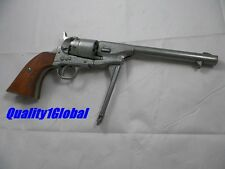 REAL WOOD STAINED GRIPS &  METAL REPLICA M1860 REVOLVER 44 MOVIE PROP PISTOL GUN