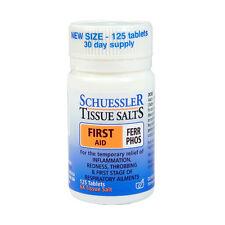 SCHUESSLER Tissue Salts Ferr Phos 125 tablets First Aid Inflammation Colds