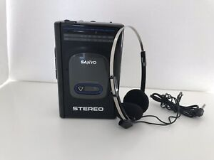 Retro Brand New Sanyo Radio Vintage Cassette Player MGR72 + Original Headphones