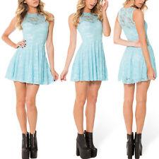 NEW Black Milk Clothing Museum M medium Sky Blue Lace Skater Dress