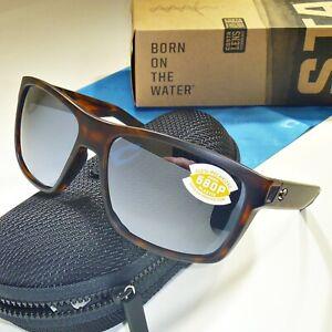 Costa Del Mar Slack Tide Polarized Sunglasses-Matte Tortoise/Silver on Gray 580P
