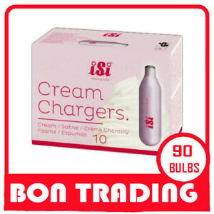iSi  BRAND 90 CREAM WHIPPER CHARGERS BULBS  10 PACK X 9 -  MADE BY AUSTRIA
