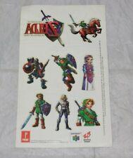 The Legend of Zelda Ocarina of Time Nintendo 64 N64 EB Promo Temp Tattoo Sheet