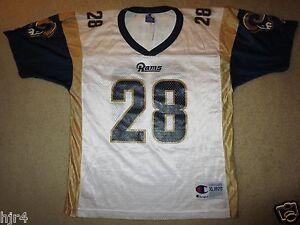 Marshall Faulk #28 St. Louis Rams NFL Champion Jersey Youth XL 18-20 children
