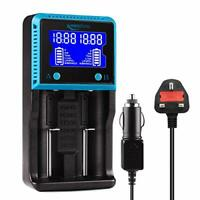 Keenstone 18650 Battery Charger UK, Dual 18650 Charger with LCD Screen for Ni-MH