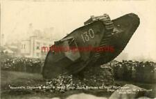 More details for real photo postcard of the ww1 tank nelson at west hartlepool, county durham
