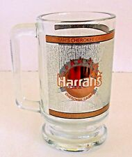 Harrah's Cherokee Casino Glass Beer Mug Gold Trim - Cherokee, Nc