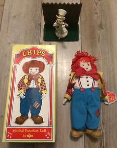 """Chips Musical Porcelain Doll/Clow by Russ """"Send in the Clowns New"""