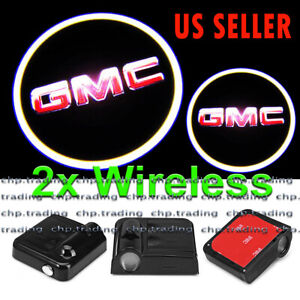 2x Wireless Ghost Shadow Laser Projector LED Light Courtesy Door Step for GMC