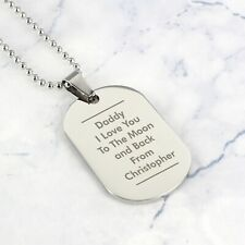 Personalised Stainless Steel Classic Dog Tag Necklace
