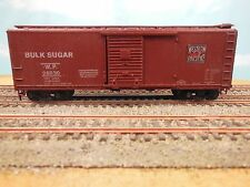 HO VINTAGE ATHEARN WESTERN PACIFIC BULK SUGAR WOOD SHEATHED BOX CAR KIT BUILT