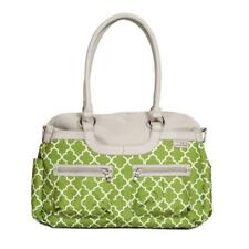 JJ COLE Satchel Baby DIAPER BAG Green Arbor w Changing Pad & Stroller Straps NEW
