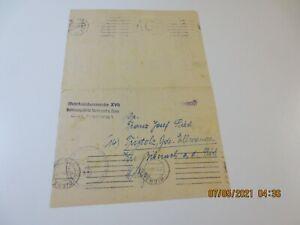 seltener Brief vom WKK Betreuungsstelle Stalingrad zur Beförderung e. Vermissten
