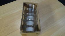 Ikea Galej Clear Glass Set of 4 Tea Light Candle Holders Tealight New