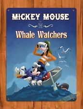 Tin Sign Walt Disney Mickey Mouse The Whale Watchers Cartoon Movie Art Poster
