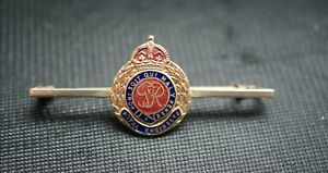 GEORGE VI ROYAL ENGINEERS GILT BRASS AND ENAMEL SWEETHEART OR MUFTI PIN BADGE