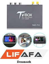 1080P HD DVB-T2 Car Digital TV Box Receiver 2 Antenna Tuners Remote Control New