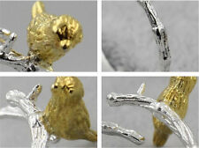 Fashion Woman Silver/Gold Plated Ring Creative Tree Branch Birds Opening Ring