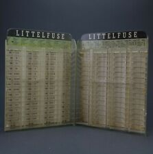 Lot of 2  LITTELFUSE Advertising Electrical Fuse Display Organizer Wall Rack