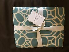 NWT  (1)  POTTERY BARN Kelsey Print Euro Pillow Sham Oasis Blue