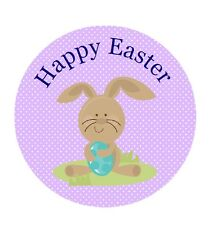 personnalisé Stickers HAPPY EASTER Mignon Lapin Thank You étiquette de19