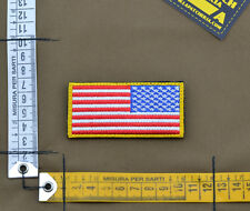"Ricamata / Embroidered Patch Reverse ""USA Flag"" with VELCRO® brand hook"