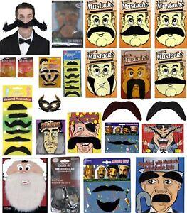 Adult Kids Party Facial Hair Mustache Santa Bread Side Burn Cat Eye Fancy Dress