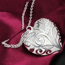 Silberkette Kette Halskette mit Anhänger Geburtstagsgeschenk Herz S925 Silber 1A