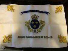 DRAPEAU BONCHAMPS SACRE COEUR ROYAL CHOUANS ROI FRANCE VENDEE CATHOLIQUE ROYAL