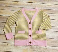 Matilda Jane size 4 Pink Green Striped Cardigan