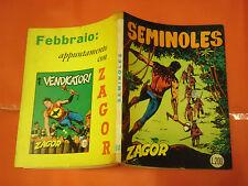 ZAGOR ZENITH- ORIGINALE- N°94 a - LIRE 200- (ZAGOR gigante N°43)- DEL 1969- raro