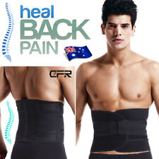 Lumbar Waist Back Support Belt Brace Gym Guard Posture Tummy Pain Relief L AU12