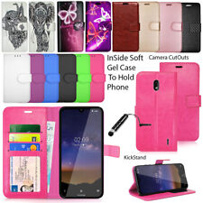 For Nokia 2.2 (TA-1188) Phone Case Wallet Leather Cover Book Flip + Touch Stylus