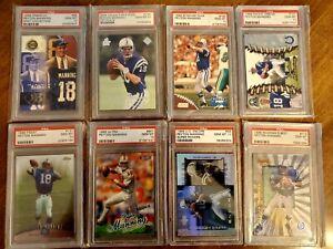 1998 Peyton Manning RC Rookie Card  Investor Lot 8 Cards All PSA 10 GEM MINT HOF