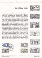 Document philatélique 1er jour 14- 1982 Europa Traité de Rome