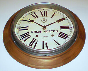 Royal Air Force Style, RAF Brize Norton, Vintage Style Wooden Wall Clock.