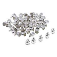 50pcs End Cap Bead Stopper Fit 6mm Leather Cord DIY Jewelry Findings Silver