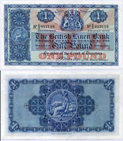SCOTLAND 1 POUND 1947 P 157 BRITISH LINEN BANK AUNC ABOUT UNC