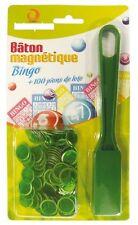 Baton Magnétique de Loto et Bingo + 100 pions aimantés magnetic wand 6 couleurs