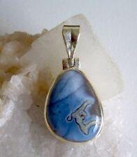 Anhänger mit blauem Opal, 925er Silber - Australien - Blau