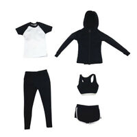 1/6 Women Sports Suit Set Female Clothing for 12'' Hot Toys/Phicen/Kumik Toy