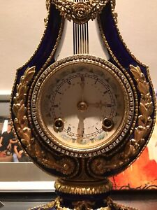French Marie Antoinette Mantel Clock Franklin Mint Louis XIV Restored